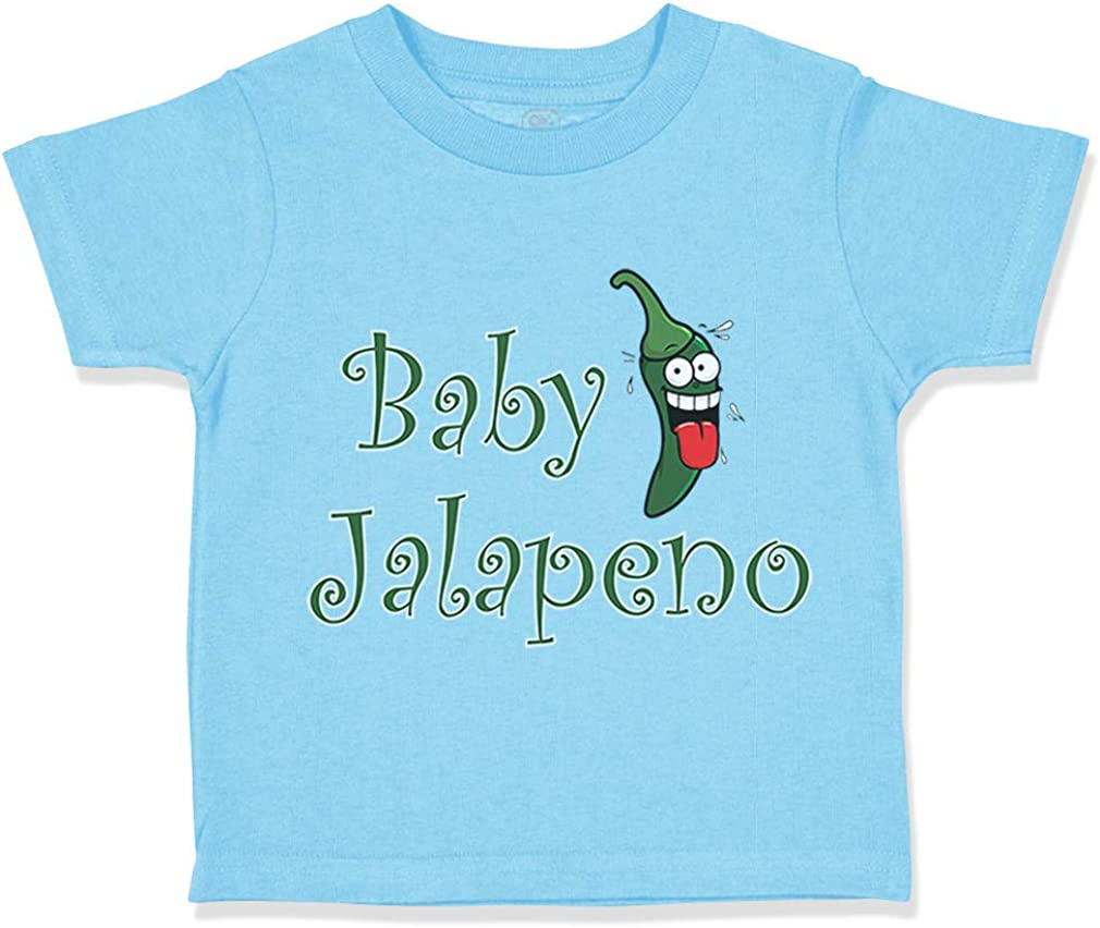 Custom Toddler T-Shirt Baby Jalapeno Vegetables Cotton Boy /& Girl Clothes