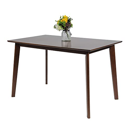 LUCKYERMORE Dining Room Table Rectangle Modern Mid Century Home Furniture Kitchen Restaurant Wood Table