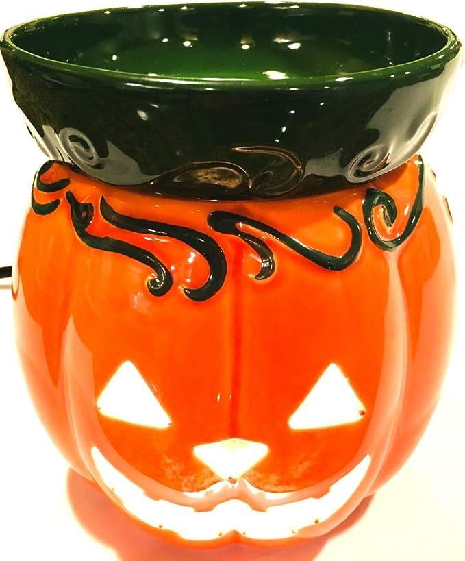 Details about  /Scentsy Plug Halloween Warmer Night Light Orange Jack  O/' Lantern