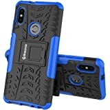 Bracevor Shockproof Hybrid Kickstand Back Case Defender Cover for Xiaomi Redmi Note 5 Pro - Blue