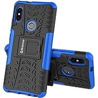 Bracevor Shockproof Hybrid Kickstand Back Case Defender Cover for Xiaomi Redmi Note 5 Pro - Blue