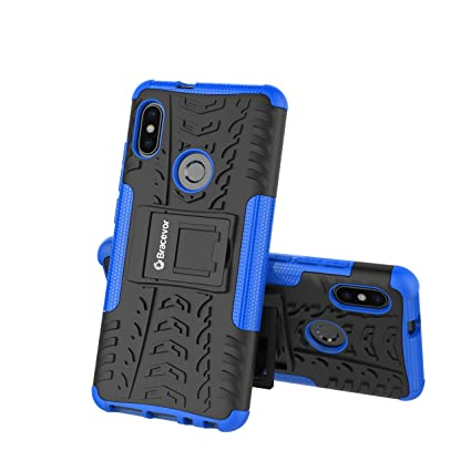 d8cb26d7b Bracevor Shockproof Hybrid Kickstand Back Case Defender Cover for Xiaomi  Redmi Note 5 Pro - Blue
