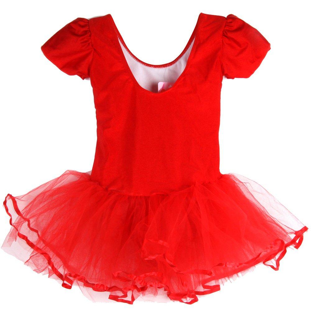 Jlong Baby Girl Short Sleeve Ballet Tutu Dress Leotard Gymnastics Dancewear 3-7Y JL-ZQP500819