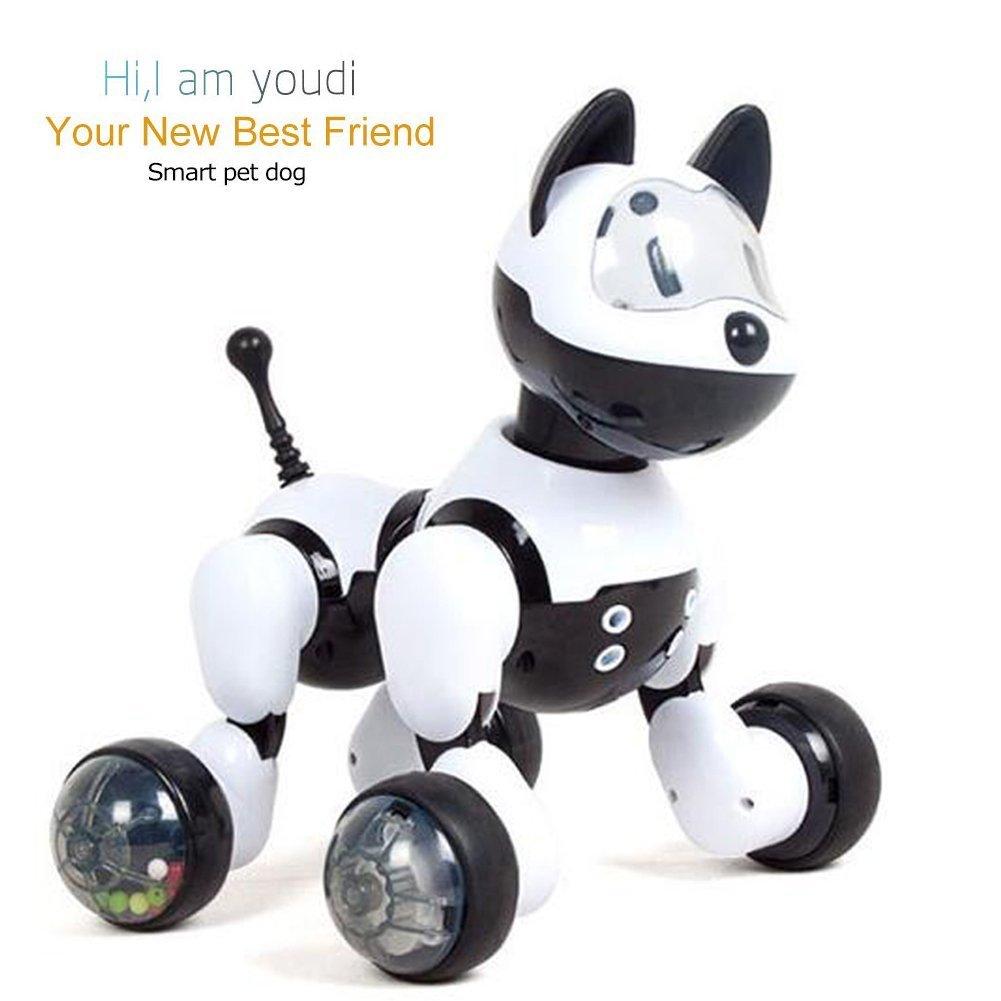 YSUCAU Electronic Pet Dog, Intelligent Voice Control Robot Dog Toy Flashing Lights, Walking Dancing Music Smart [Robot Toy