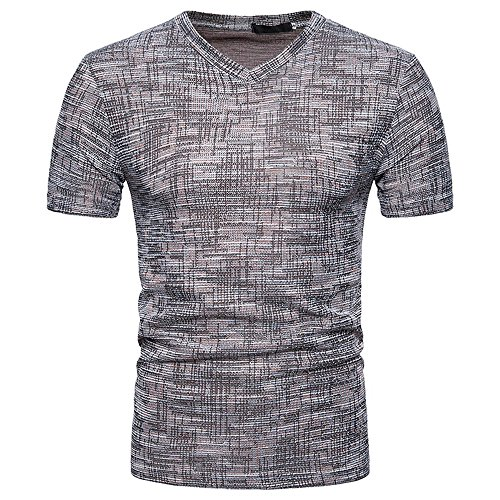 Mens Tops Men's Summer Casual Slim Fit Solid