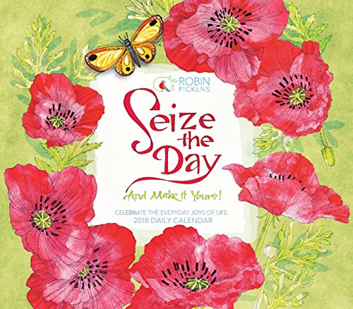 Seize The Day And Make It Yours - Robin Pickens 2018 Boxed/Daily Calendar (CB0263) (Desk Calendar For Women)