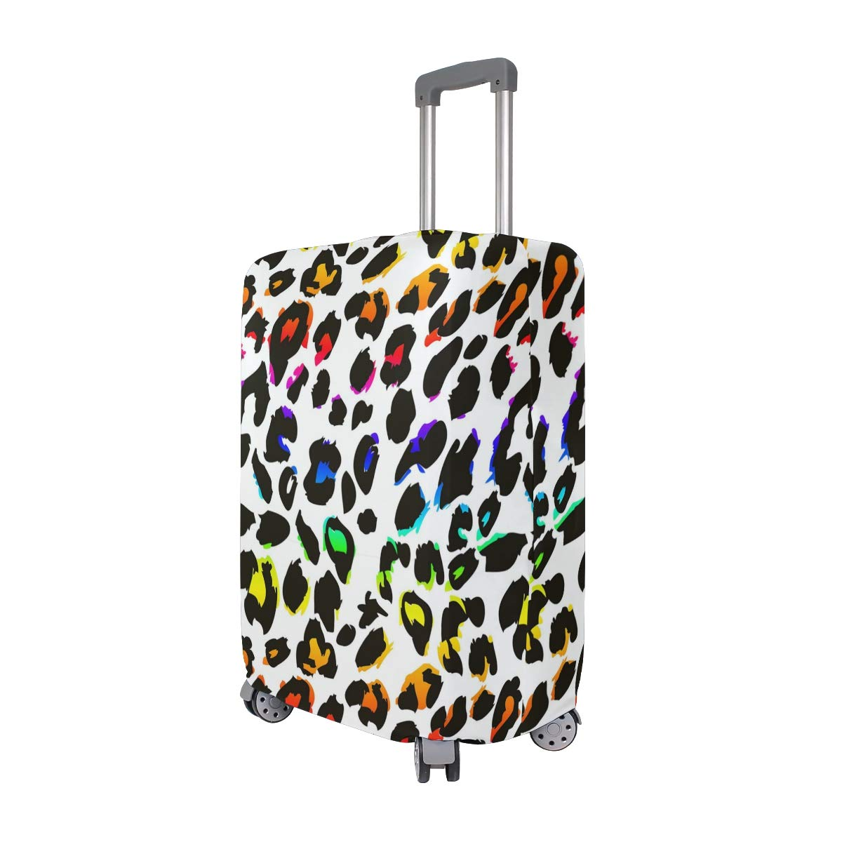 Cartoon Color Leopard Print Traveler Lightweight Rotating Luggage Protector Case Can Carry With You Can Expand Travel Bag Trolley Rolling Luggage Protector Case
