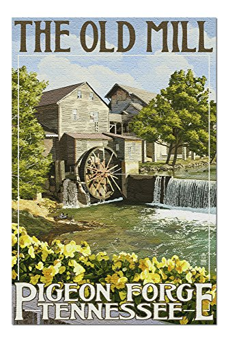Pigeon Forge, Tennesseee - The Old Mill (20x30 Premium 1000 Piece Jigsaw Puzzle, Made in USA!) -