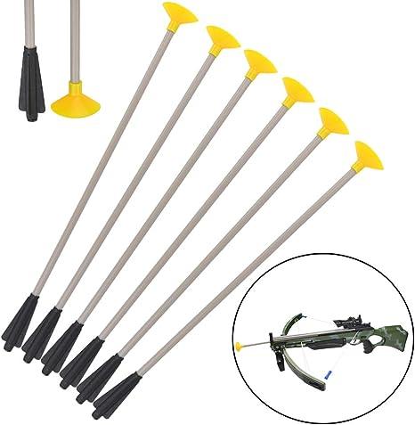 12 x Safe Sucker Archery Arrows for Children Toy Bow Crossbow Kids Garden Target