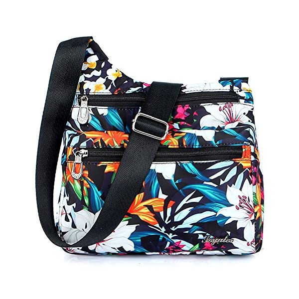 Nawoshow-Nylon-Floral-Multi-Pocket-Crossbody-Purse-Bags-for-Women-Travel-Shoulder-Bag