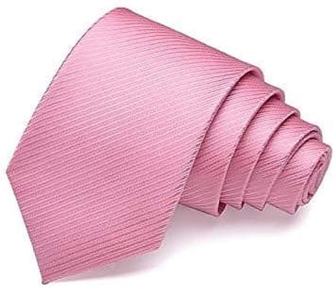 newest collection 2bdcf 69142 No Name Ltd Da uomo da uomo formale cravatta di seta rosa ...