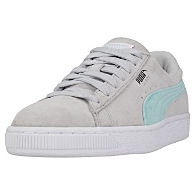 7d0500a00373 PUMA Womens Glacier Grey Suede Classic Sneakers-UK 3