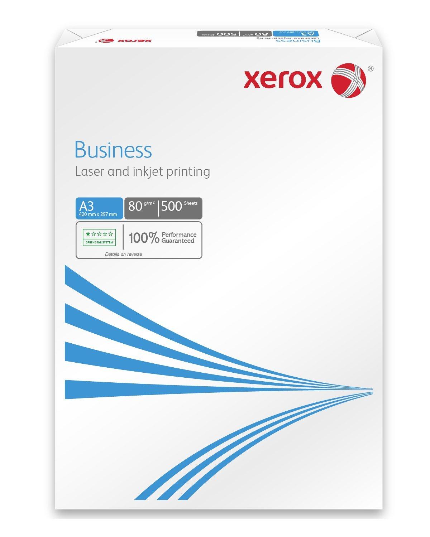 Xerox 003R91821 - Carta per fotocopiatrici e stampanti Business, universale, formato DIN A3, 80 g/m², confezione da 5 risme da 500 fogli (2.500 fogli in totale), bianco 003R91821B