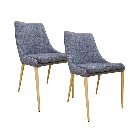Amazon.com: Silla de comedor nórdica, silla de centro de ...