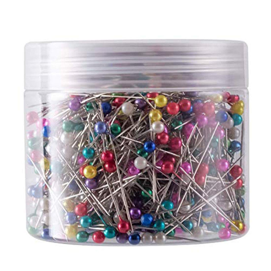 DIY Crafts Glass Head Pins Boxed for Dressmaker Multicolor for Home  Office Use Art Craft Sewing Jewelry Making