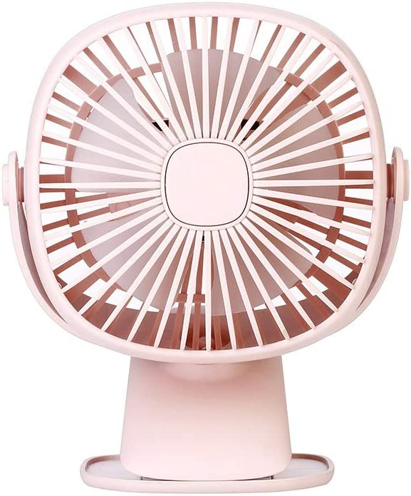 Color : Pink, Size : One Size Zxcvlina Portable Personal USB Fan Square Box Night Light Mini Clip Small Electric Fan USB Charging for Student Desktop Bedside