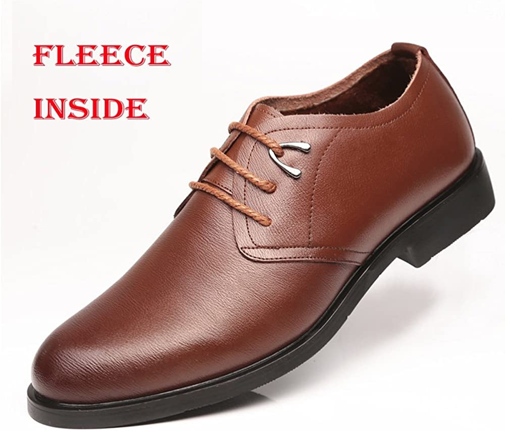 Men Classic Mens Formal Oxfords PU Leather Lace Up Soft Sole Flats Dress Shoes Breathable Shoes