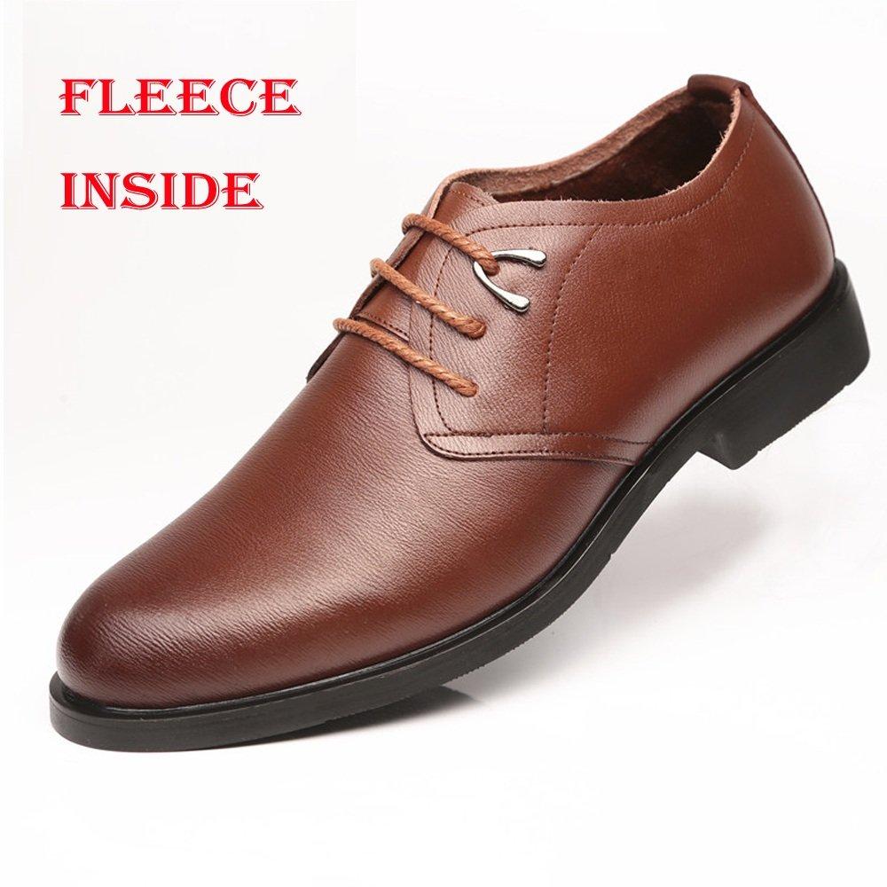 JIALUN-Schuhe Formale Oxfords PU-Leder der klassischen Männer schnüren Sich weiche weiche weiche Sohle-Ebenen-Kleid-Schuhe (Farbe   Braun, Größe   44 EU)  60d6ee