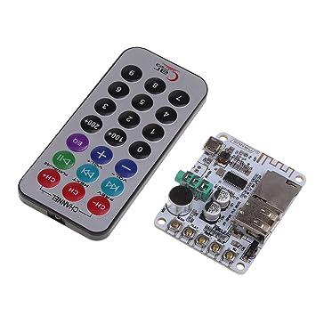 Baoblaze Receptor de Audio + Mando Amplificador de Control Remoto Inalámbrico Bluetooth V4.2