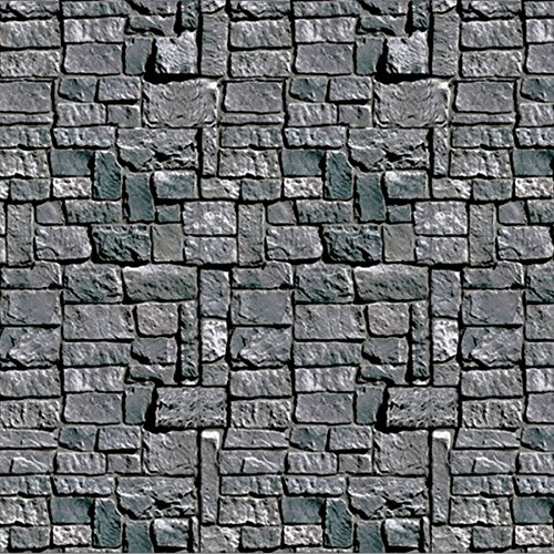 Beistle Stone Wall Backdrop Party Accessory | 4-Feet by 30-Feet | (3-Count)
