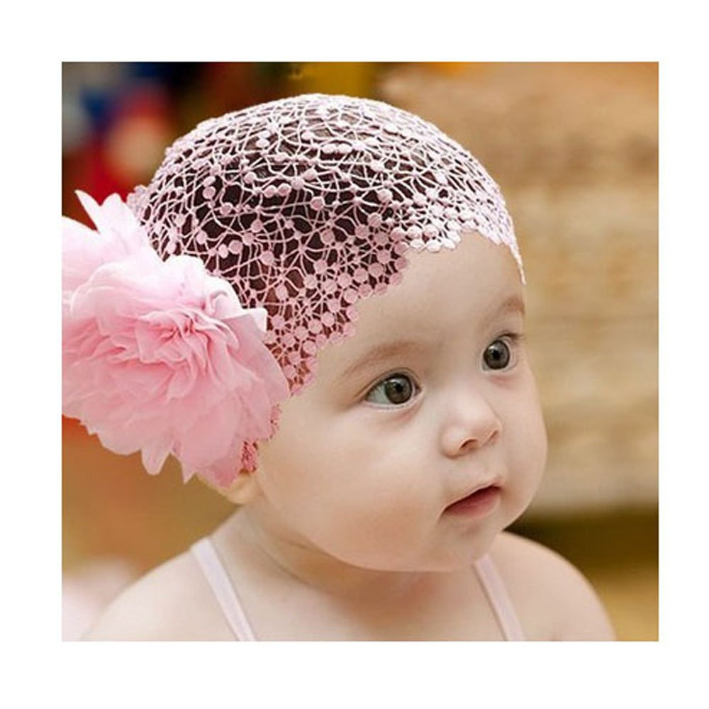 Beautiful baby hair accessories - Baby Girl Infant Headband Bow Flower Elastic Lace Headwear Hair Band Decoration Pink Amazon Ca Baby