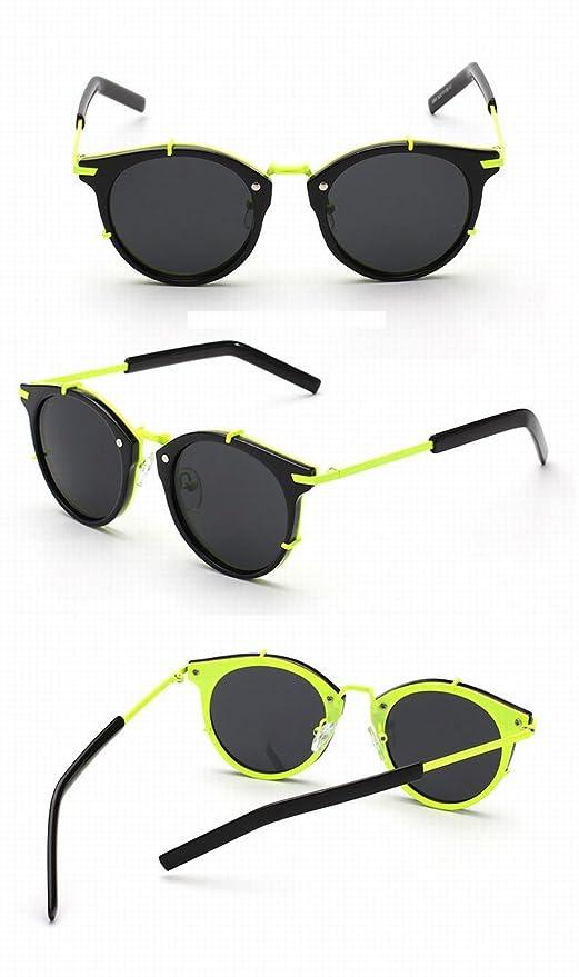 Inkjet Farbe Sonnenbrille Fluoreszierende Farbe Personalisierte Sonnenbrille Männliche Brille Schwarzes Und Grünes Rahmen Schwarzes Objektiv BcN65
