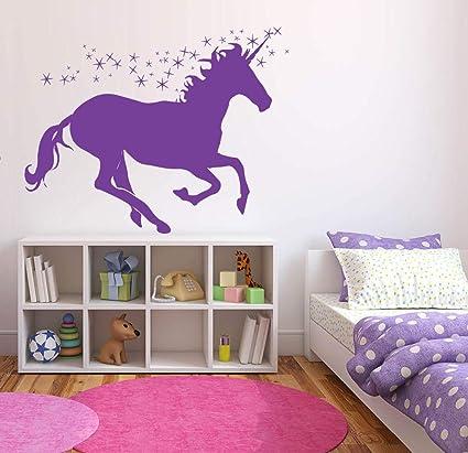 Amazon.com: Unicorn Decals for Girls Room - Unicorn Bedroom Wall ...