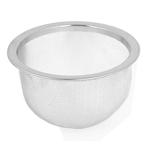 Filtro de hojas de te - SODIAL(R) Filtro de hojas de te de malla de alambre de acero inoxidable de tono de plata de 76mm