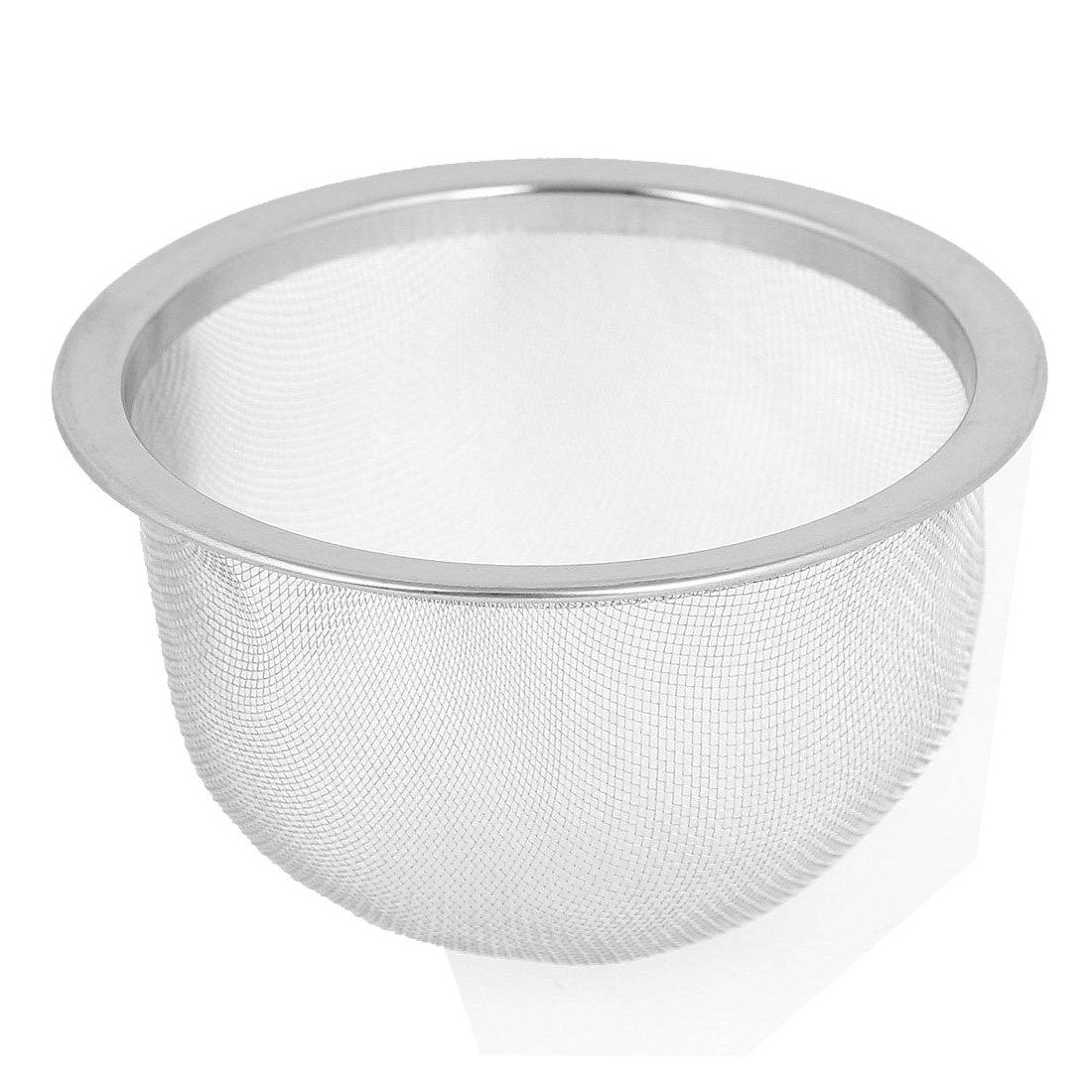 Tea Leaves Filter - TOOGOO(R) 76mm Silver Tone Stainless Steel Wire Mesh Tea Leaves Spice Strainer Basket