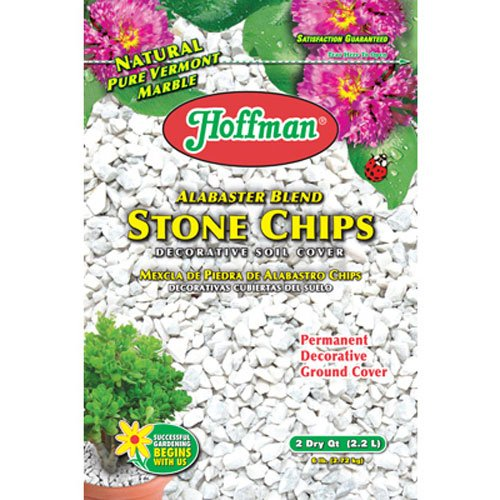 Hoffman 14102 Decorative Soil Covers Alabaster Blend Stone Chips, 2 Quarts (Soil Decorative Cover)