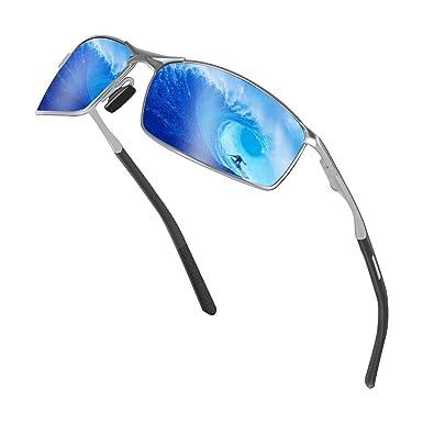 SUNMEET Gafas de Sol Hombre Polarizadas Deportes 100% Protección UV Gafas de sol para Hombre Conducción S1008