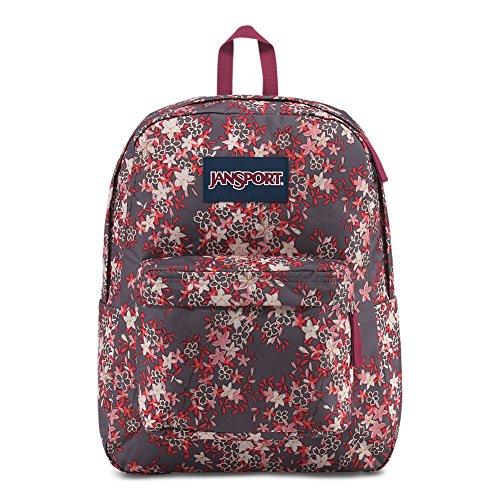 JanSport Superbreak Backpack - Folk Floral - Classic, Ultralight