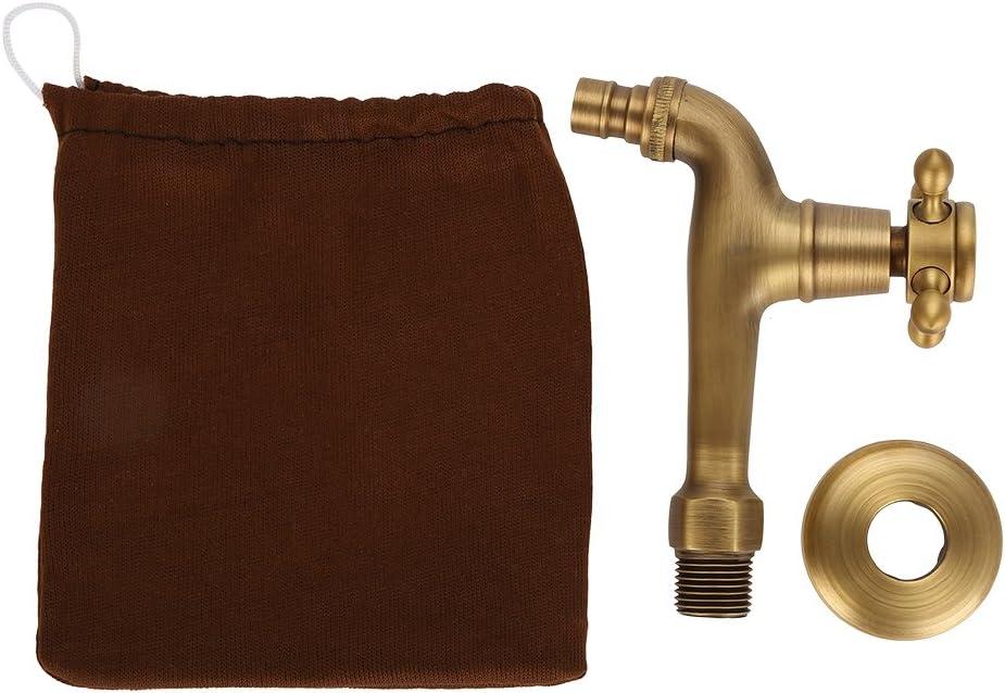 Grifo Vintage, antioxidante y Duradero en Uso Grifo Monomando de latón sólido Vintage para Lavadora Grifo de Agua montado en la Pared(#1)