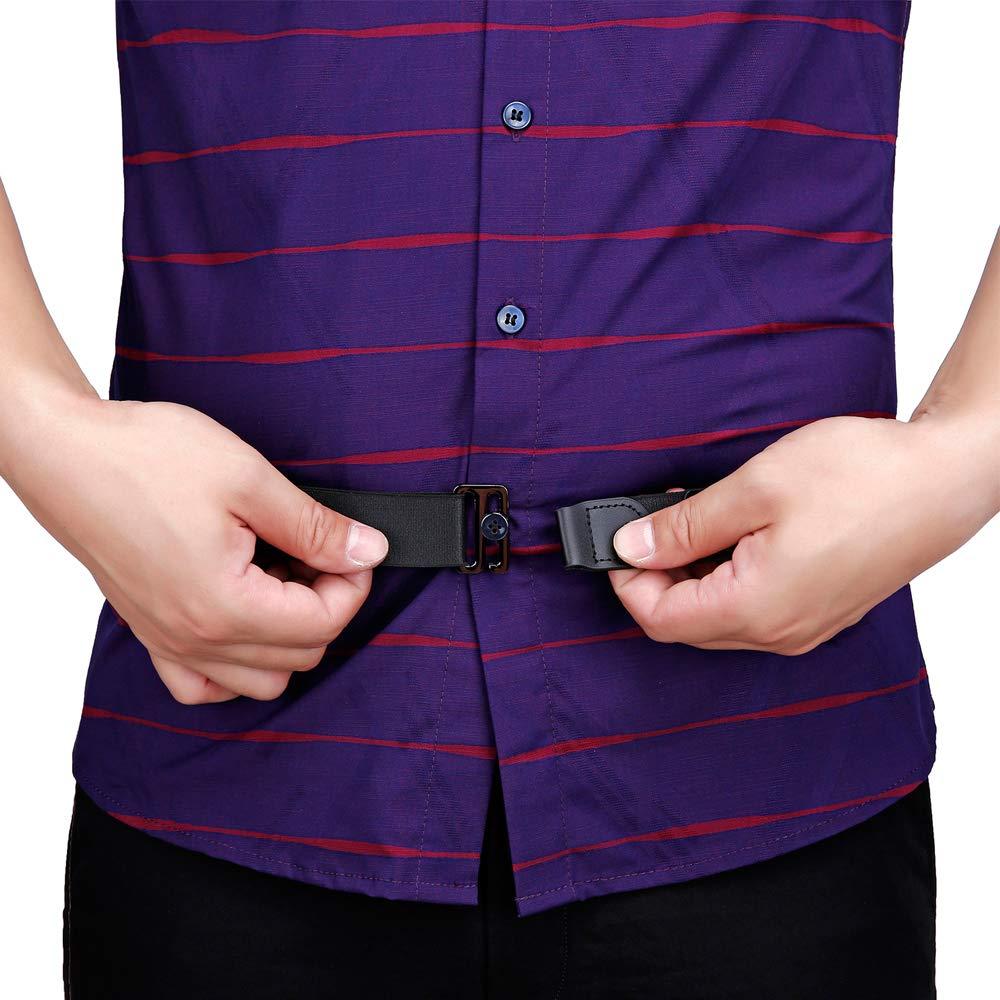 Men Shirt Stays Shirt Lock Belt Adjustable Elastic Shirt Holder Keeps Shirt Tucked in for Police Military