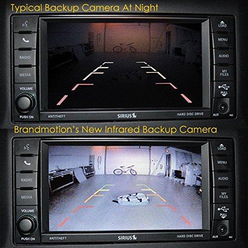 Brandmotion Jeep Wrangler Adjustable Infrared Light Rear Vision Camera 2007-Current 9002-8858