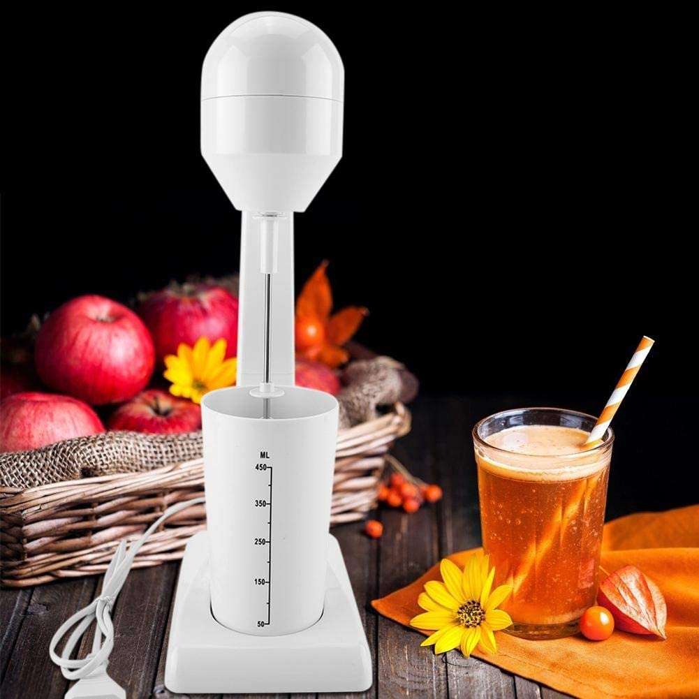 Leche el/éctrica Foamer batidor de leche el/éctrico M/áquina para hacer espuma de caf/é Latte Foamer Mezclador de c/óctel Enchufe de la UE 220-240V