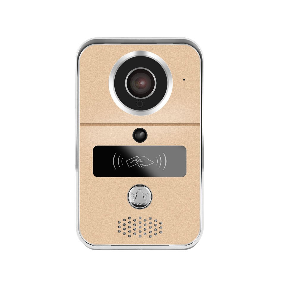 WiFi Video Doorbell, AnyGo KW02 HD Enabled Video Doorbellwith RFID Keyfobs Dingdong bell Support iOS and Android (Gold)