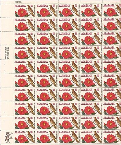 Alabama Stamps - Alabama Sheet of 50 x 6 Cent US Postage Stamps Scott 1375