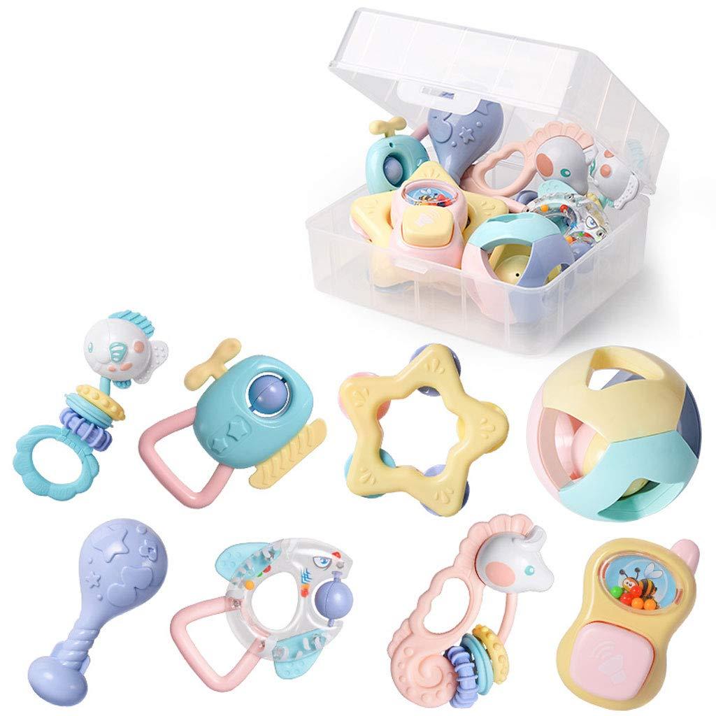 Babyrassel, Baby Spielzeug Tamburin Rassel Sinn Rassel pädagogisches Spielzeug Babyrassel Neugeborenen Rassel Rassel Set Baby Baby (Farbe : B)