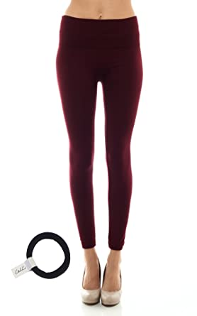 0f29701c49c45 Sofra High Waist Fleece Lined Leggings Plus Size(XL-3XL) with EttelLut Hair