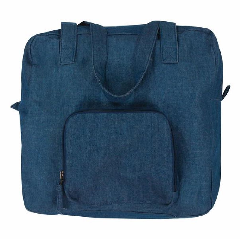 22ddeff1a7 lovely Lightweight Denim Blue Xtra Bag Expandable Reusable Grocery Tote Bag