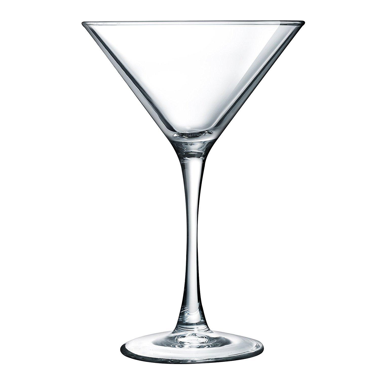 Luminarc N4132 Arc International Atlas Martini Glass (Set of 4), 7.5 Oz, Clear