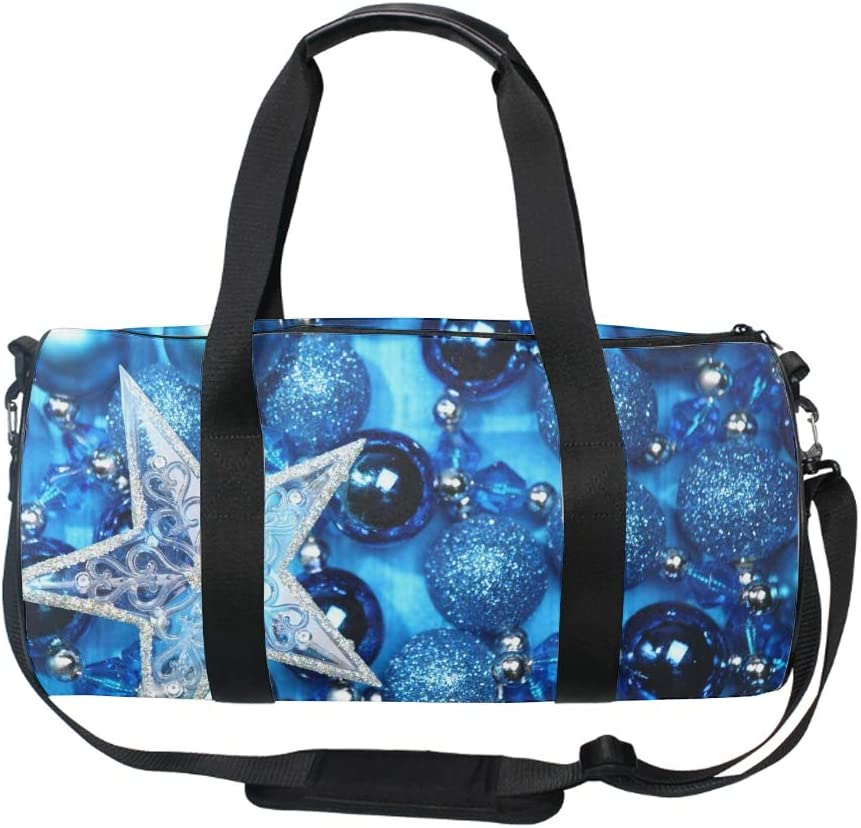 Christmas Candle Ornaments Gym Duffle Bag Drum tote Fitness Shoulder Handbag Messenger Bags