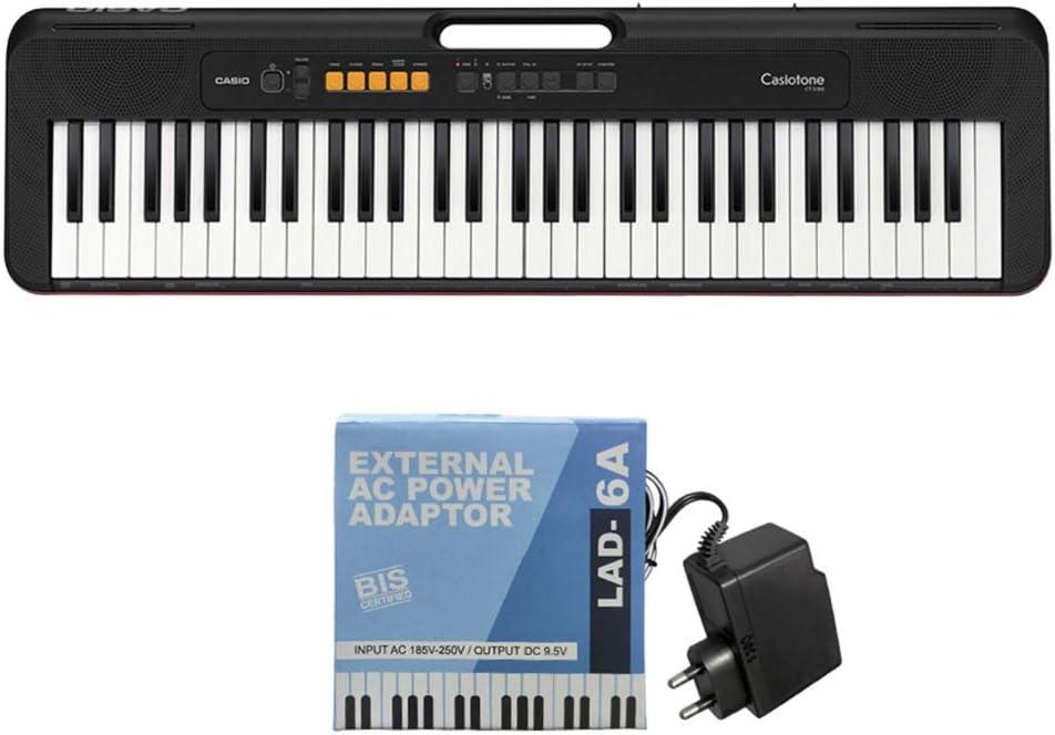 Casio CT-S100 - Teclado de Piano (sin Adaptador de Corriente Alterna)