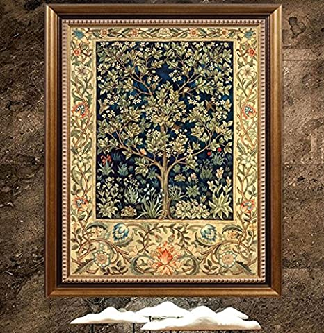 William Morris Tree of Life Detail from Tapestry Counted Cross Stitch Chart