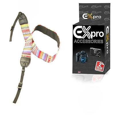 EX-Pro® réflex Binocular Vintage cámara cuello/Multi-color ...