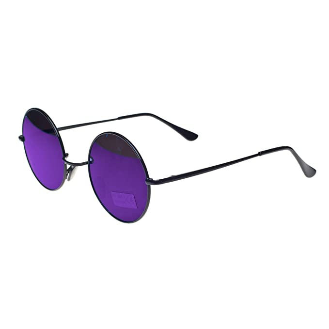 Cyber ronde John Lennon glasses miroir goggles de soleil des Lunettes de Steampunk Antique Copper (Silver) hHlRw