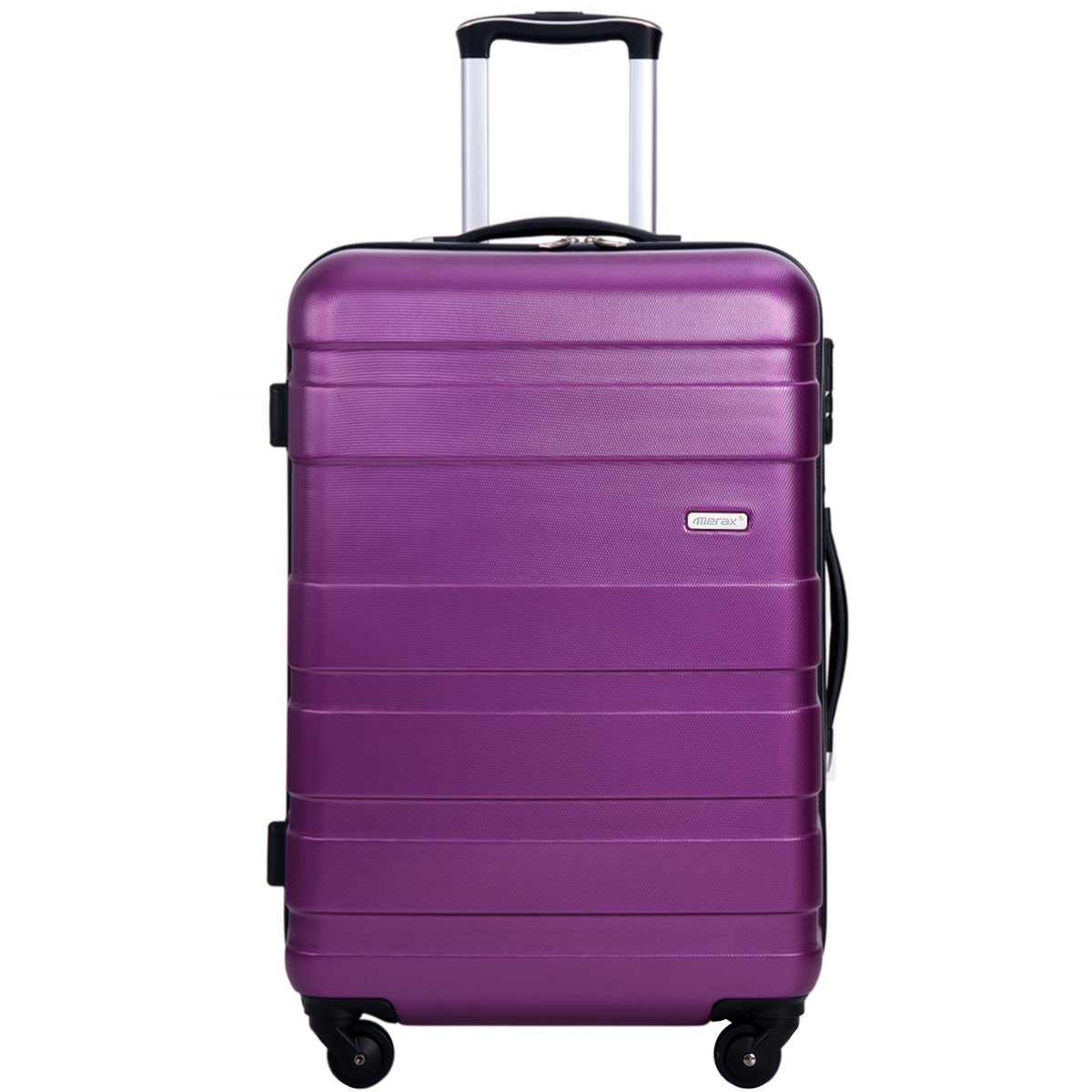 Merax Aphro 20inch Carry On Luggage Lightweight ABS Spinner Suitcase (Purple.)