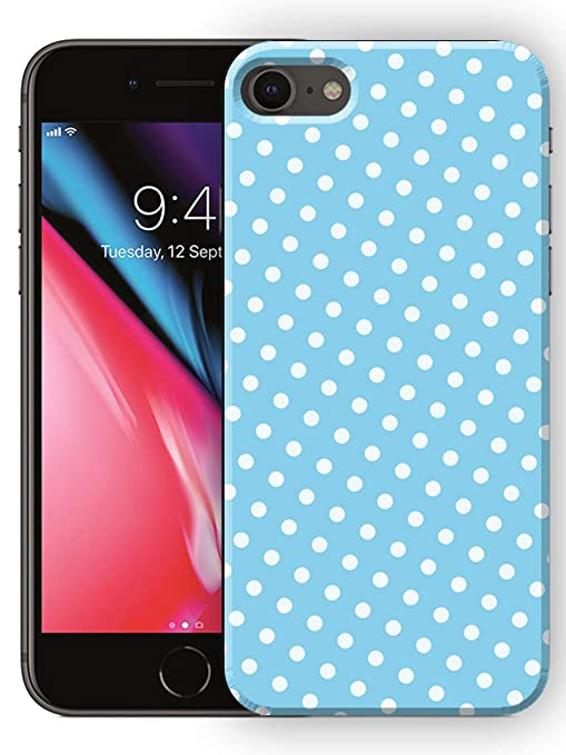 Polymol Sky Blue Polka Dot Art Printed Designer Amazon In Electronics