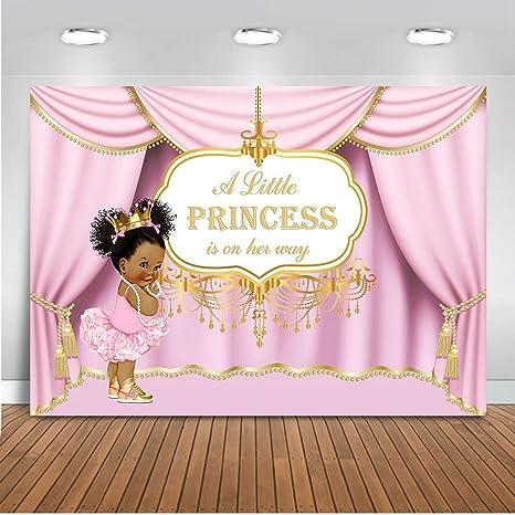 beeba633 Amazon.com : Mocsicka Royal Pink Princess Backdrop Royal Curtain ...